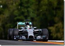 Hamilton nelle prove libere del gran premio del Belgio 2014