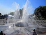 The water fountain at Seattle Center during the Bumbershoot festival