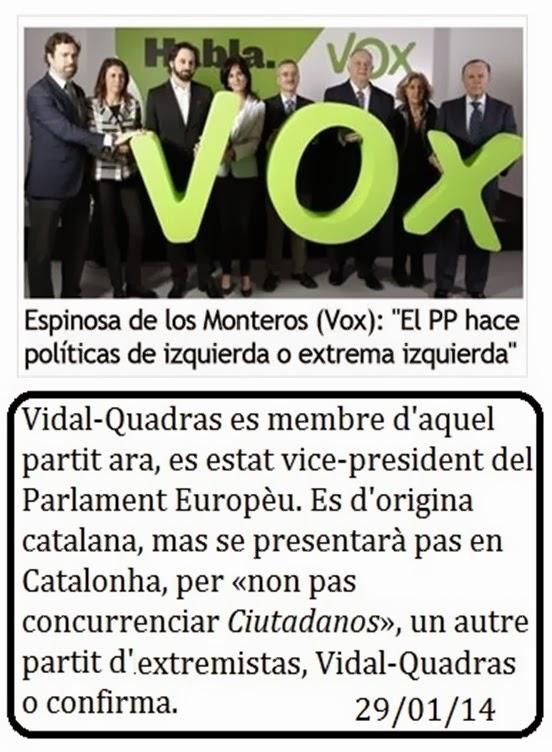 Vidal Quadras Vox extremisme