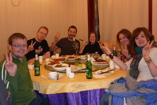 Eddie, Trevor, me, Lynette, Sarah and Paula popping out for a bit of Peking Duck!