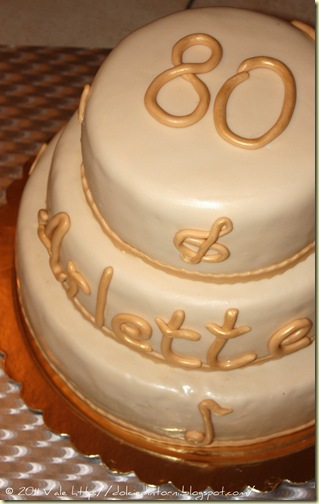 Torta 80 anni Arlette bis