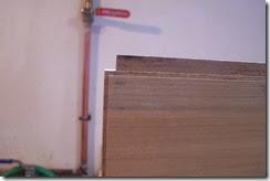 detalle de la unión de la galleta al tablero