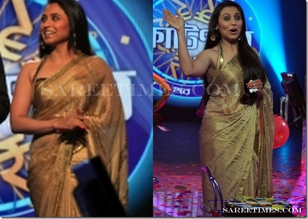 Images Of Actress Rani Mukherjee In Designer Gold Fau Shimmer Ge Ette