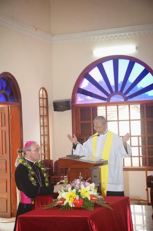 Diễn văn chào mừng Đức TGM Leopoldo Girelli tại Bàu Gốc