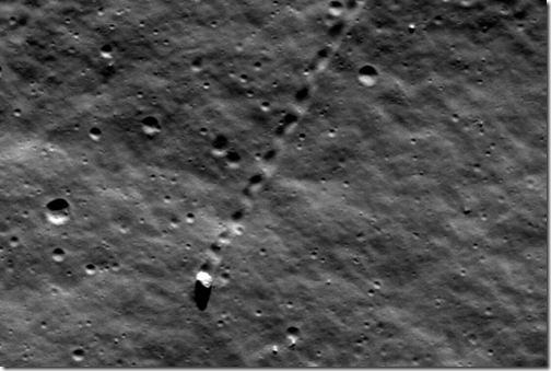 Перемещающийся по поверхности Луны камень