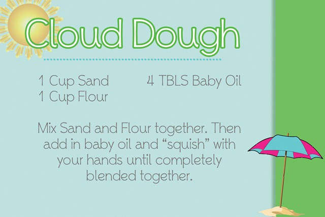 Cloud Dough Recipe Card