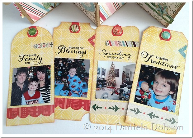 December 25 mini album tags by Daniela Dobson