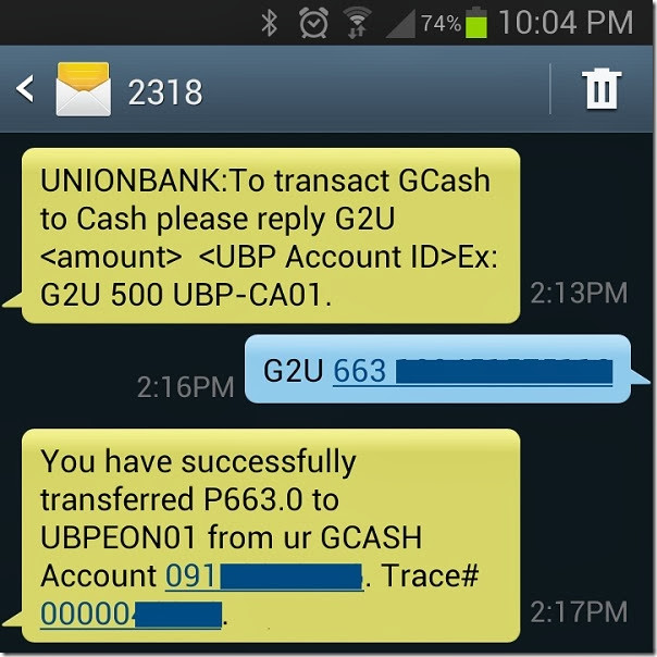 GCash to UnionBank