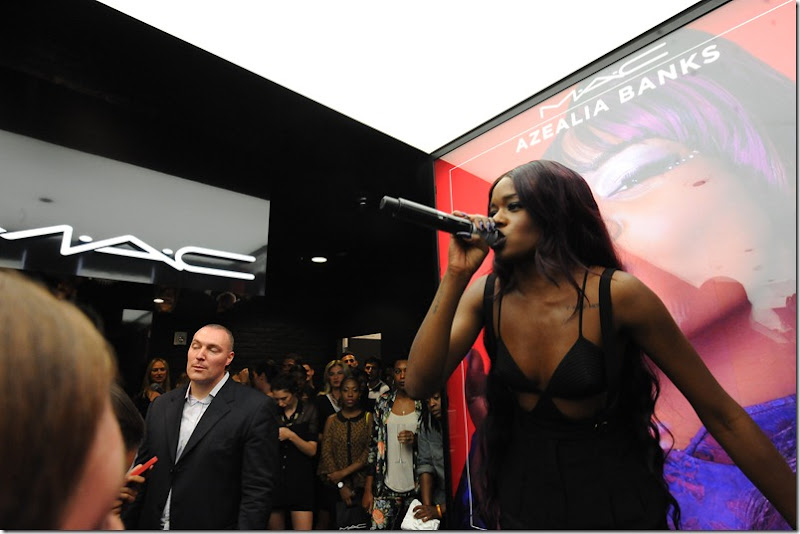 Azealia Banks performs at MAC Soho in celebration of Fashions Night Out