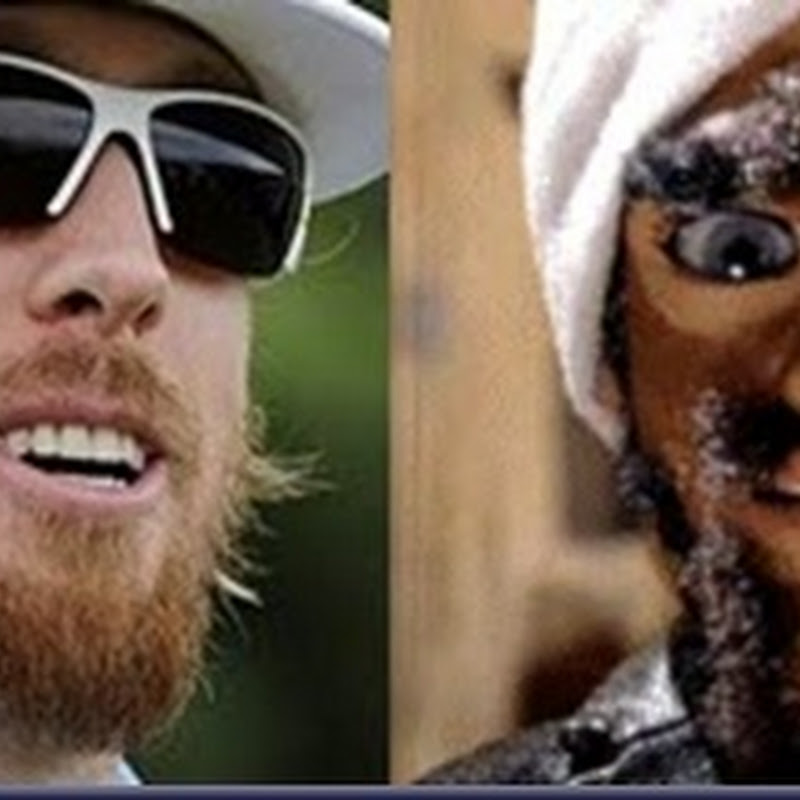 "Durka Durka Separated at Birth Hunter Mahan and ""Gary"". Go Team America"