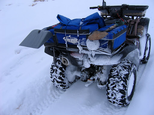 Losta snow sticking to the ATV