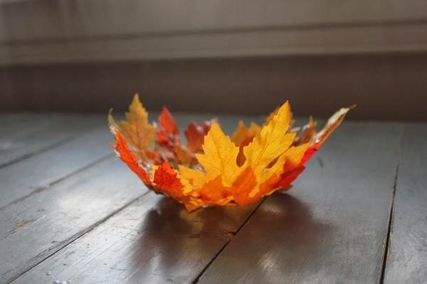 DIY Fall Leaf Bowl, Fall Decor, Fall Craft
