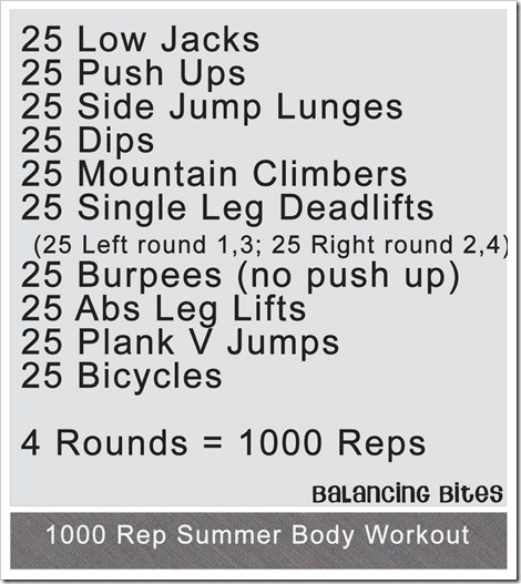 1000 Rep Summer Body Workout