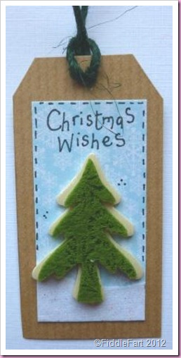 Kraft Card Christmas Tree Tag