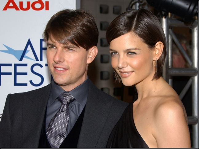 Actor Tom Cruise and Actress Katie Holmes arrive at the AFI Fest
