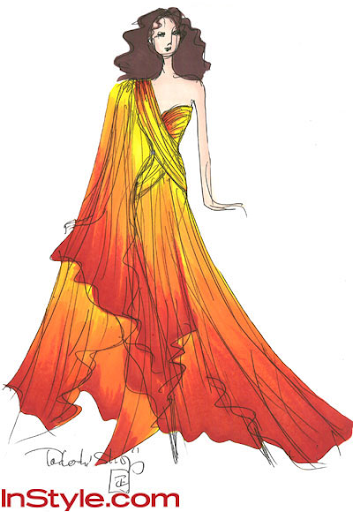 Fashion Designers Sketch Hunger Games Dress | The Oncoming Hope
