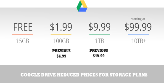 google drive price reduced