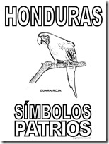 simbolos patrios honduras 4 jugarycolorear
