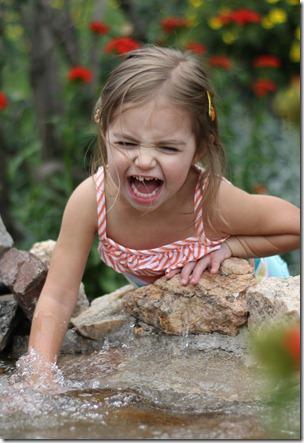 Alexa LOVES fountains!