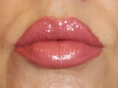 wearing L'Oreal Infallible ProLast Lipcolor in Permanent Blush