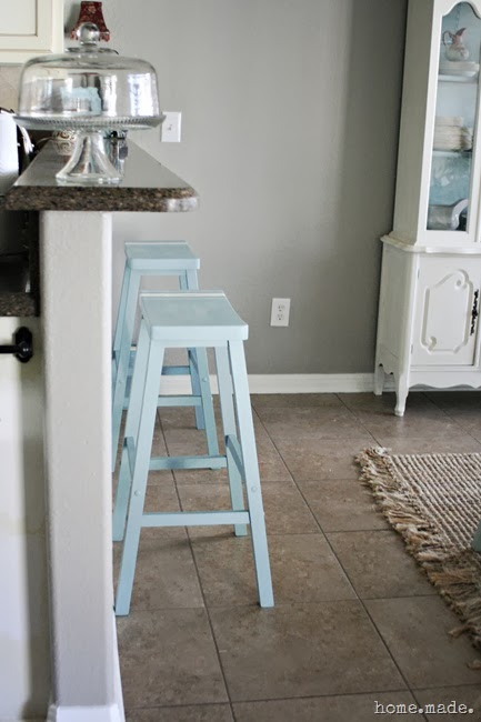 Grain Sack Stripe Barstool