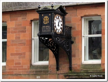 No, not a clock maker but the local Physician and Surgeon who died in 1892. Erected by Grateful patients.