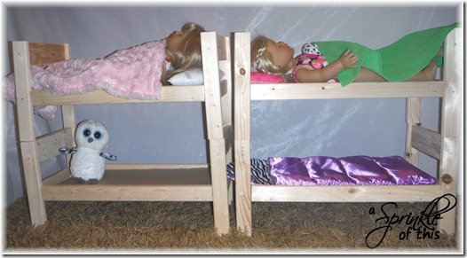 Doll Bunk Beds {A Sprinkle of This . . . . A Dash of That}