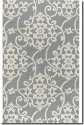 gray white rug