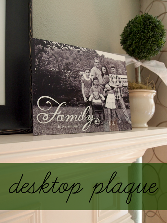 Shutterfly Desktop Plaque