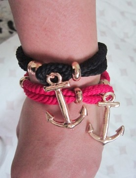 anchor bracelets, bitsandtreats