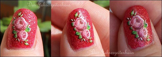 Funkelnde Rosen Waterdecals
