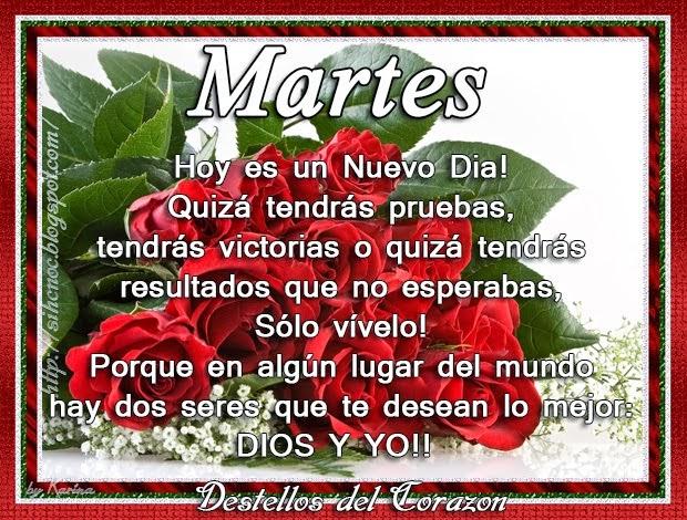 Destellos Del Corazon: Feliz Martes