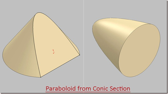Paraboloid from Conic Section-1