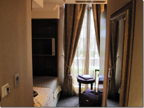 My hotel room in London