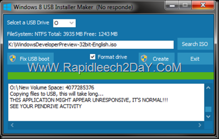 steps-Windows 8 USB Installer Maker - figure 5