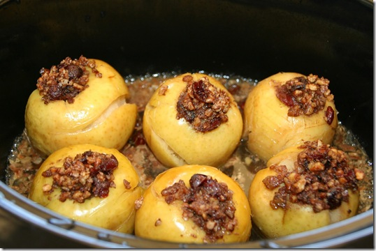 Crockpot Baked Stuffed Apples