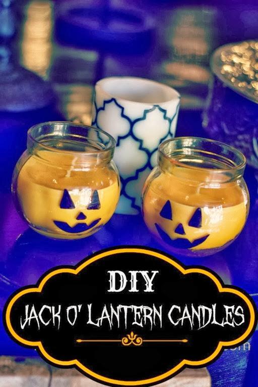 jack o' lantern candles