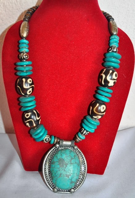 Necklace with Turquoise Pendant