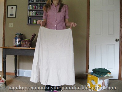 too large skirt refashion (3)