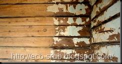 Стены старого сруба дома