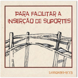 Para facilitar a inserção de suportes (lassoares-rct3)