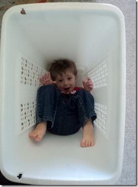 in laundry basket