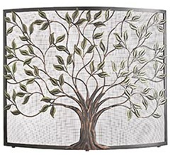 cercis asian-inspired fireplace screen