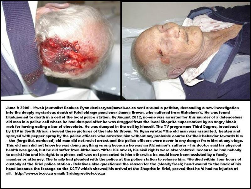 BROWN JAMES KRIEL POLICE CELL MURDER