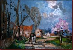 Paisaje con caballo y carro (46x33)