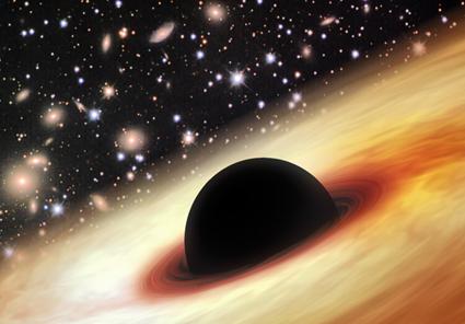quasar com um buraco negro supermaciço no Universo distante