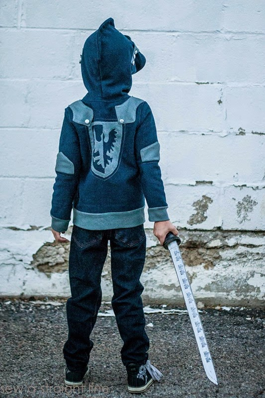 knight hoodie Sew a Staight Line-4