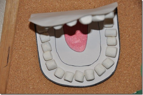 mouth template for preschool
