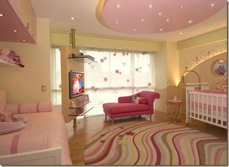 decoracion de dormitorio de bebe niña.k
