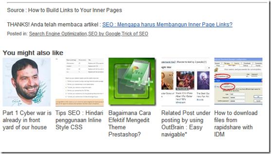 internal link muncul setiap post artikel
